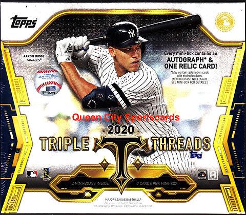 2020 Topps Triple Threads Baseball Hobby Box