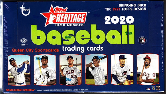 2020 Topps Heritage High Number Baseball Hobby Box