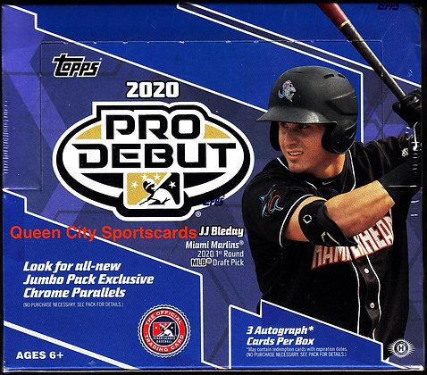 2020 Topps Pro Debut Baseball Jumbo Box