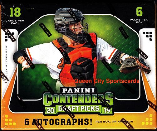 2019 Panini Contenders Draft Picks Baseball Box