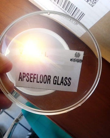 APSEFLOOR GLASS Kg 8  Resina epossidica atossica, cristallina fino a 20 mm