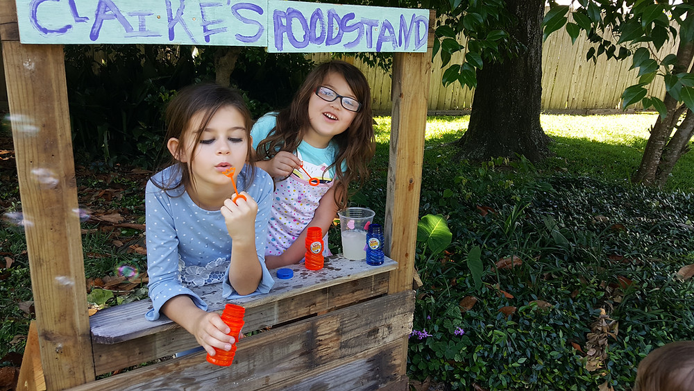 Nothing like a lemonade stand....and bubbles!