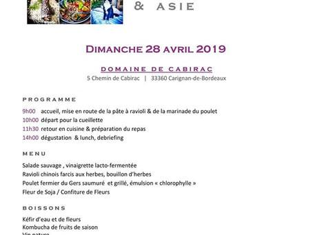 Atelier cueillette , cuisine sauvage & Asie  ( 28 Avril 2019 ) à Bordeaux