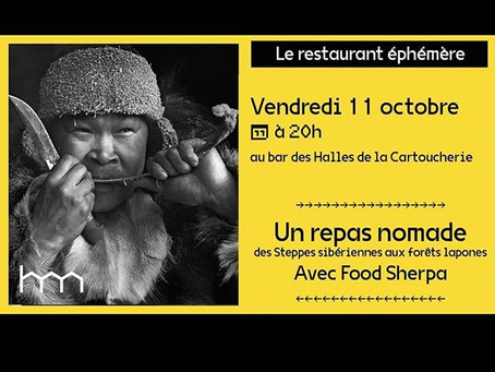 Festin nomade & sauvage (des steppes sibériennes aux forets lapones ) Vendredi 11 Octobre 2019