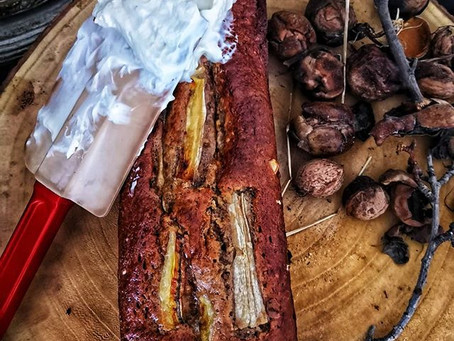 Cake à la Banane & aux Noix , petit plaisir d'automne ...