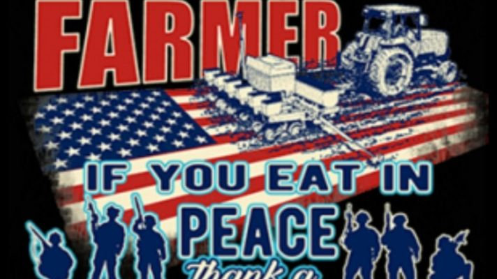 "Adult Shirt ""Thank a Farmer Thank A Veteran"