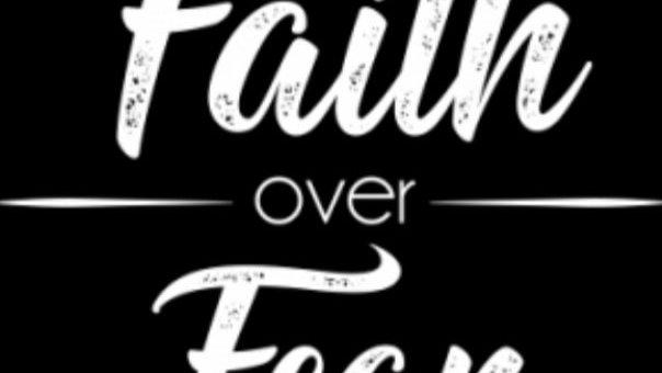 """Adult Shirt  """"Faith Over Fear"""