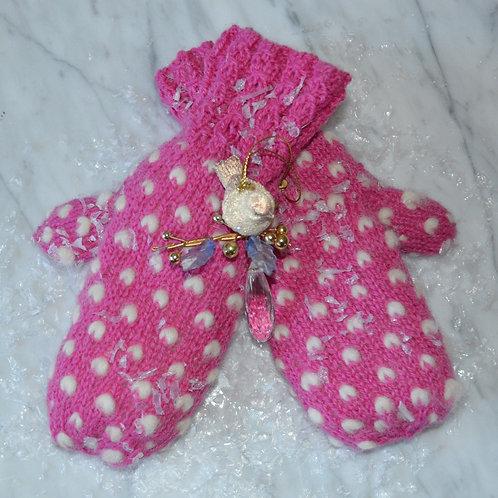 Materialpakke Frost -en strikket polvott i rosa