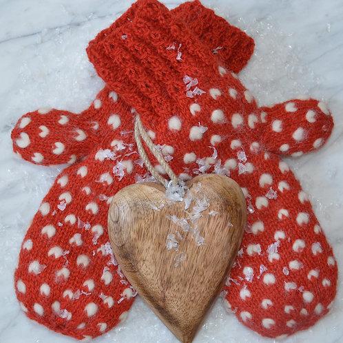 Materialpakke Frost -en strikket polvott i rødt