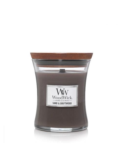Woodwick Candle Medium - Sand & Driftwood