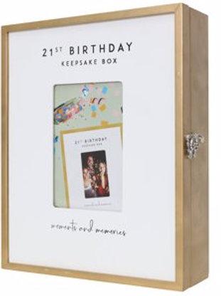 21ST KEEPSAKE BOX