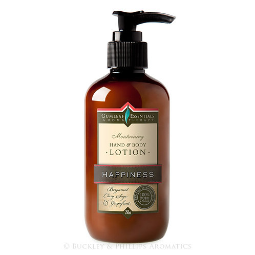 BUCKLEY & PHILLIPS GUMLEAF ESSENTIALS AROMATHERAPY HAPPINESS HAND & BODY LOTION