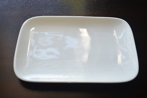 Small White Rectangle Display Dish