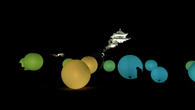 『浮遊する、呼応する球体』 ,名古屋城