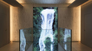『Universe of Water Particles on the Living Wall』,GINZA SIX