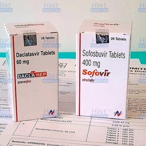 Софосбувир 400 мг (sofovir) и даклатасвир 60 мг (daclahep)