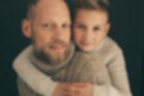 familienbilder, vater und sohn