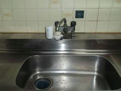 施工前 水栓金具