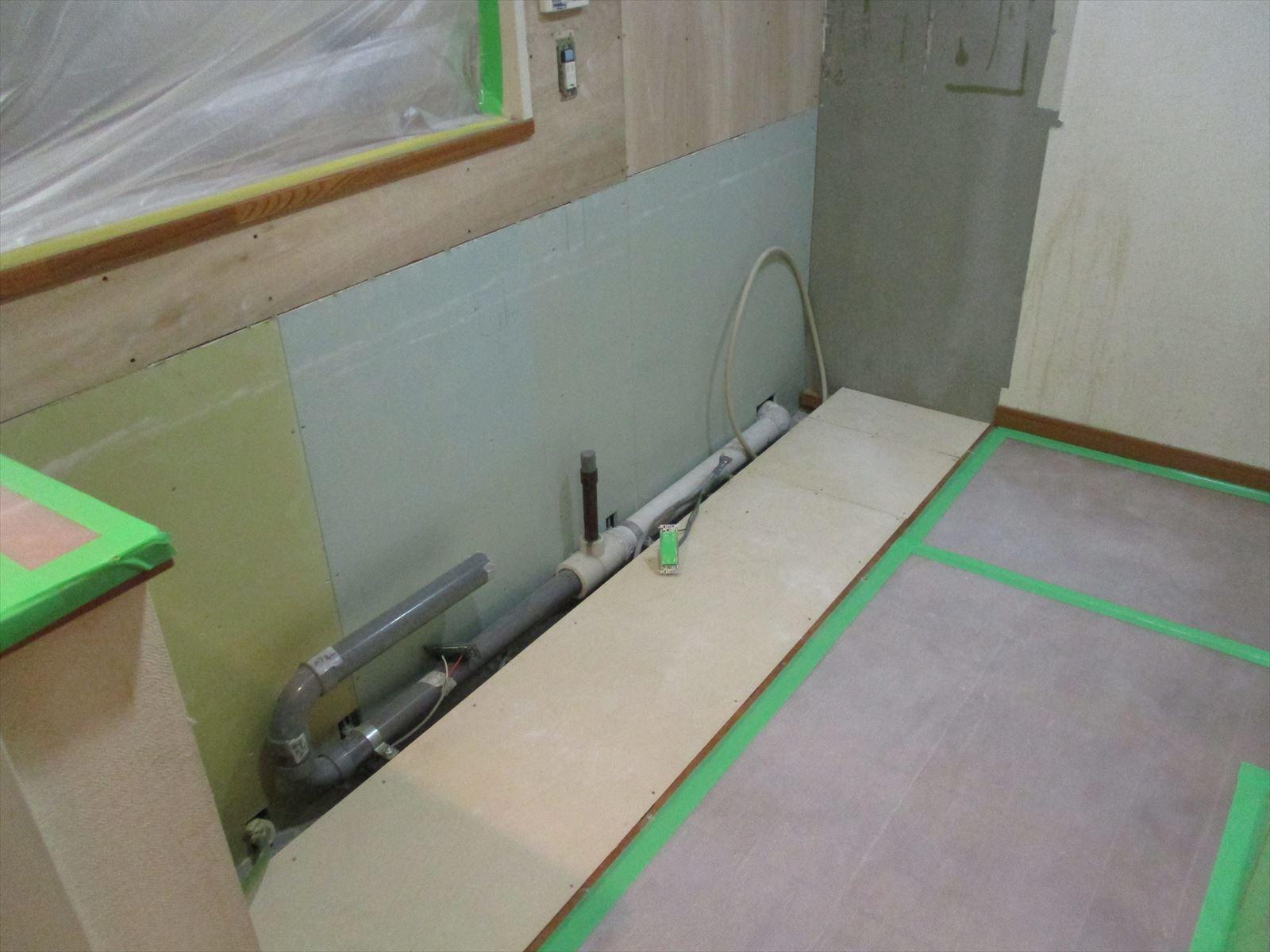 工事中キッチン