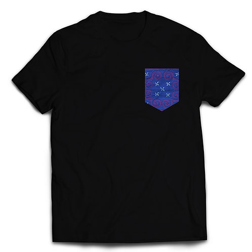 Blue & Purple Elephant's Foot - Crew Neck
