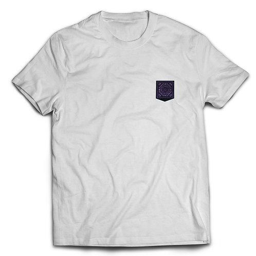 Purple Embroidery - Crew Neck
