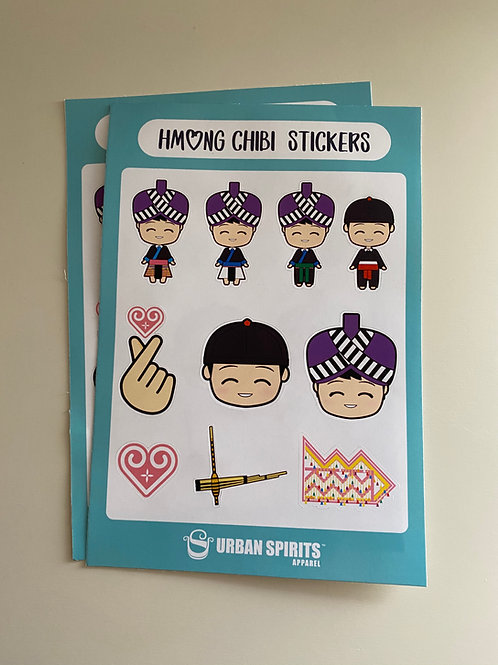Chibi Hmong Sticker Sheet
