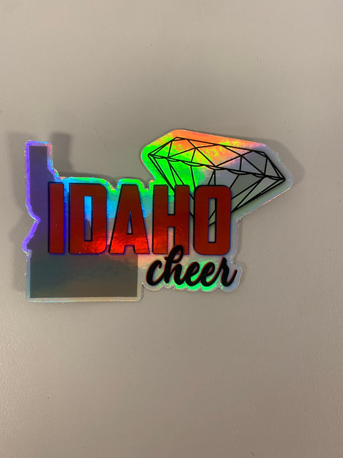 Holographic Idaho Sticker