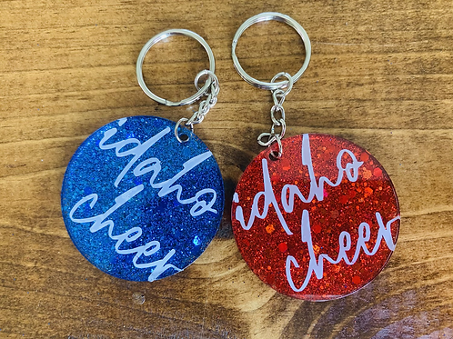 Idaho Cheer Keychain