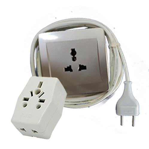 Extension cord single 13A with 5 meter wire