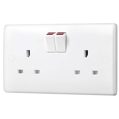 Double 13A socket with switch