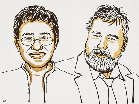 Nobel Peace Prize 2021: Maria Ressa and Dmitry Muratov