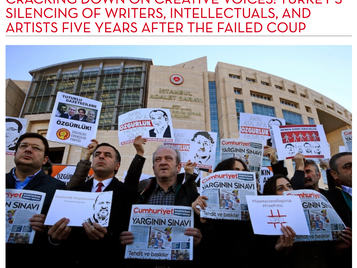 Cracking Down on Creative Voices: PEN America Report on Turkey's silencing of writers
