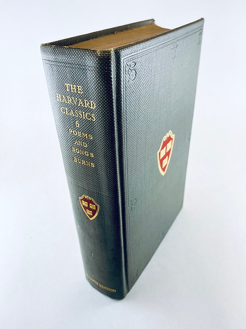 1909 Harvard Classics Poems and Songs Burns - Alumni Edition
