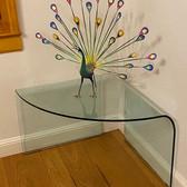 SICA Italian Glass Corner Table