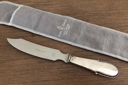 Georg Jensen Denmark Sterling Beaded Pattern Serving Knife