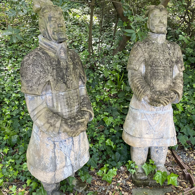 "Large Terracotta Warrior Statues (77"" tall)"