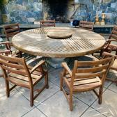 "Handmade Patio Table (83"" diameter)and Chairs"