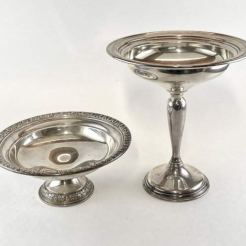 Lot of 2 Weighted Sterling Trays