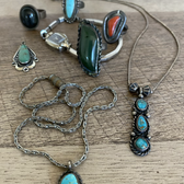 Sterling & turqouise Native American jewelry