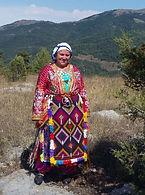 Bio-Bäuerin aus Anatolien in Tracht