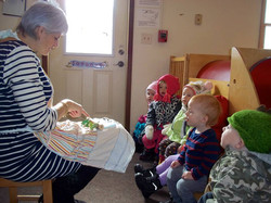 Toddlers listening to stories