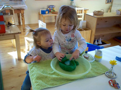 Toddlers learning from one another
