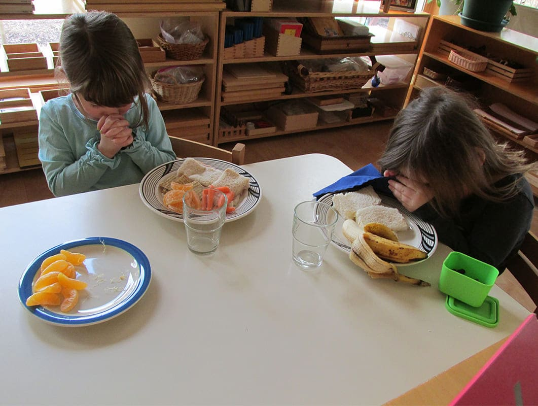 Primary Montessori praying