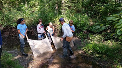working to dredge creek