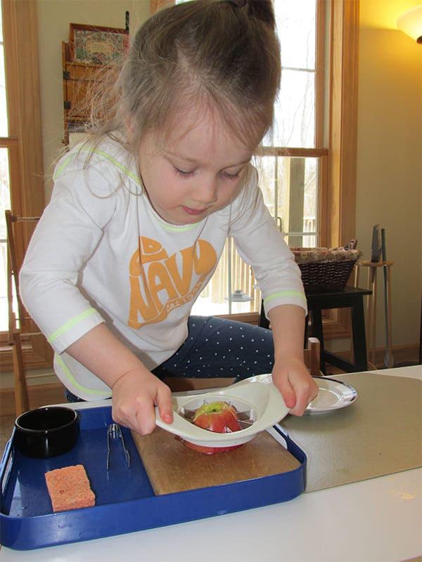 Primary Montessori Snack Making