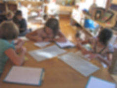 Students Doing Handwriting