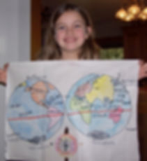 Student show World Map