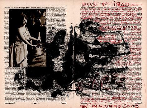 """Alex Bednarz """"Here's to Iago"""" (Freie Arbeit, 2018) Monotypie, Collage"""