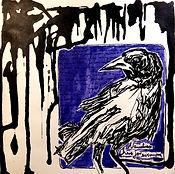 """Alex Bednarz """"Nevermore 2"""" (freie Arbeit, 2016), Tusche, 18x18"""