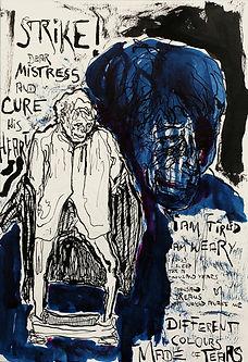"""Alex Bednarz """"Muffat"""" (2016) Tusche, 20x30"""